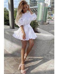 Φόρεμα - κώδ. 3386 - λευκό