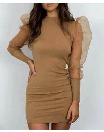 Φόρεμα - κώδ. 3545 - καφέ