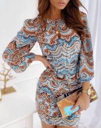 Φόρεμα - κώδ. 7214 - 1 - πολύχρωμο