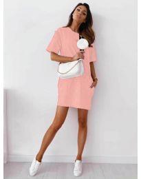 Φόρεμα - κώδ. 7236 - ροζ