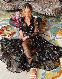 Φόρεμα - κώδ. 3285 - 1 - μαύρο