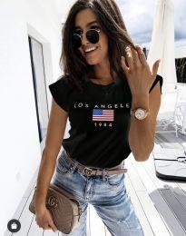Κοντομάνικο μπλουζάκι - κώδ. 6336 - μαύρο