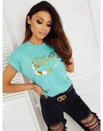 Κοντομάνικο μπλουζάκι - κώδ. 3659 - μέντα
