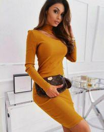 Φόρεμα - κώδ. 11441 - μουσταρδί
