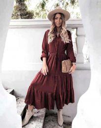 Φόρεμα - κώδ. 6522 - μπορντό