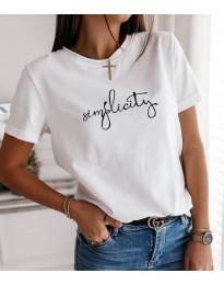 Κοντομάνικο μπλουζάκι - κώδ. 3661 - λευκό