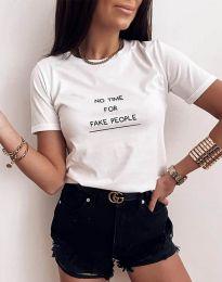 Κοντομάνικο μπλουζάκι - κώδ. 2279 - λευκό