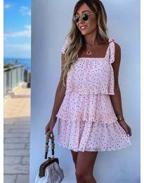 Φόρεμα - κώδ. 6140 - ροζ
