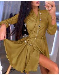 Φόρεμα - κώδ. 2428 - μουσταρδί
