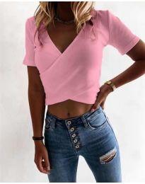 Κοντομάνικο μπλουζάκι - κώδ. 1102 - ροζ