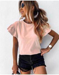 Κοντομάνικο μπλουζάκι - κώδ. 520 - ροζ