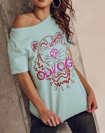 Κοντομάνικο μπλουζάκι - κώδ. 11721 - μέντα
