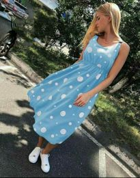 Φόρεμα - κώδ. 8122 - 3 - γαλάζιο