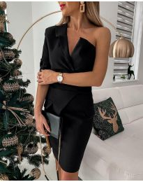 Φόρεμα - κώδ. 15944 - 2 - μαύρο