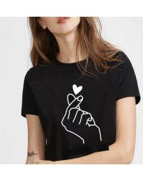Κοντομάνικο μπλουζάκι - κώδ. 816 - μαύρο