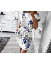 Φόρεμα - κώδ. 1055 - λευκό