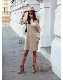 Φόρεμα - κώδ. 8171 - μπεζ