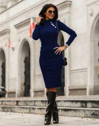 Φόρεμα - κώδ. 7099 - 6 - σκούρο μπλε