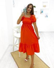 Φόρεμα - κώδ. 3283 - 3 - πορτοκαλί