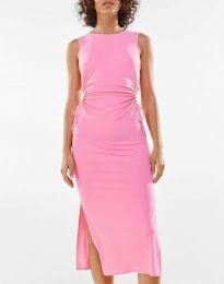 Φόρεμα - κώδ. 1272 - ροζ