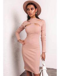 Φόρεμα - κώδ. 1625 - 2 - ροδακινί