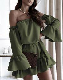Φόρεμα - κώδ. 8513 - λαδί