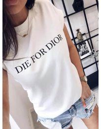 Κοντομάνικο μπλουζάκι - κώδ. 406 - 1 - λευκό