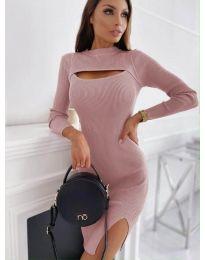 Φόρεμα - κώδ. 4528 - ροζ