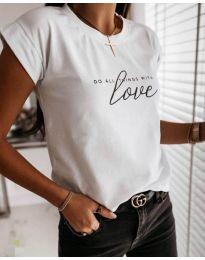 Κοντομάνικο μπλουζάκι - κώδ. 3660 - λευκό