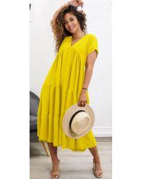 Φόρεμα - κώδ. 4475 - κίτρινο