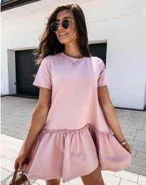 Φόρεμα - κώδ. 11890 - ροζ