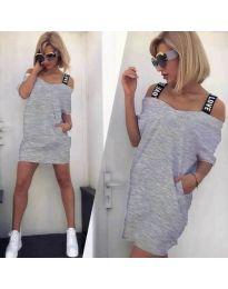 Φόρεμα - κώδ. 6964 - γκρι