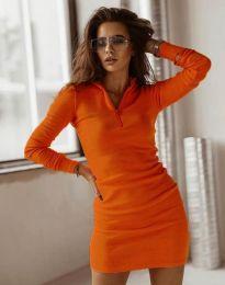 Φόρεμα - κώδ. 4288 - πορτοκαλί