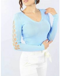 Μπλούζα - κώδ. 6776 - γαλάζιο