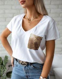 Κοντομάνικο μπλουζάκι - κώδ. 11631 - λευκό