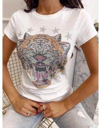 Κοντομάνικο μπλουζάκι - κώδ. 6596 - λευκό