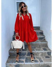 Φόρεμα - κώδ. 6643 - κόκκινο
