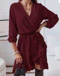 Φόρεμα - κώδ. 5371 - μπορντό