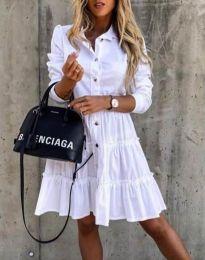 Φόρεμα - κώδ. 1366 - 2 - λευκό