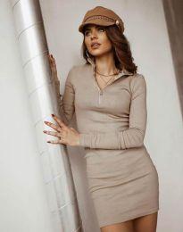 Φόρεμα - κώδ. 4288 - μπεζ