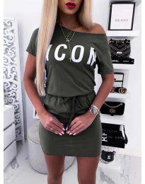 Φόρεμα - κώδ. 9905 - χακί