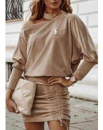 Φόρεμα - κώδ. 8987 - μπεζ