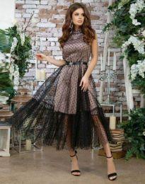 Φόρεμα - κώδ. 6858 - 1 - μαύρο