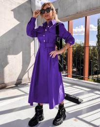 Φόρεμα - κώδ. 1467 - σκούρο μωβ