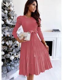 Φόρεμα - κώδ. 3939 - ροζ