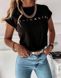 Κοντομάνικο μπλουζάκι - κώδ. 4078 - μαύρο