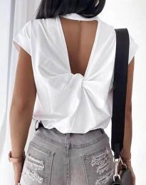 Κοντομάνικο μπλουζάκι - κώδ. 4515 - λευκό