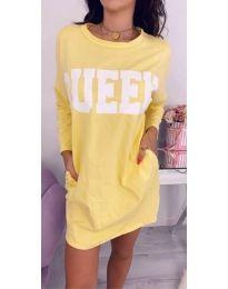 Φόρεμα - κώδ. 883 - κίτρινο