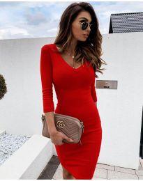 Φόρεμα - κώδ. 4040 - κόκκινο