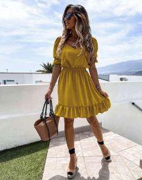 Φόρεμα - κώδ. 6460 - μουσταρδί